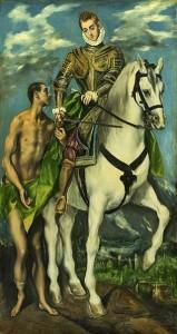 Der heilige Martin und der Bettler, 1597/1599  - Ο Άγιος Μαρτίνος και ο επαίτης                                                El Greco (Domenikos Theotokopoulos, 1541-1614)  - Ελ Γκρέκο (Δομίνικος Θεοτοκόπουλος)